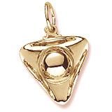 Gold Plated Tri Corner Hat Charm by Rembrandt Charms