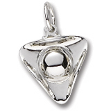 14K White Gold Tri Corner Hat Charm by Rembrandt Charms