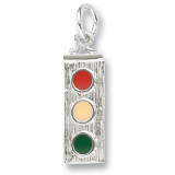 Sterling Silver Traffic Light Charm by Rembrandt Charms