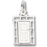 14K White Gold Front Door Charm by Rembrandt Charms