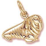 14K Gold Walrus Charm by Rembrandt Charms