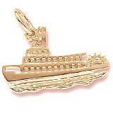 14K Gold Riverboat Charm by Rembrandt Charms