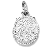 14k White Gold Happy Birthday Cake by Rembrandt Charms