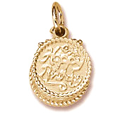 14k Gold Happy Birthday Cake Charm by Rembrandt Charms