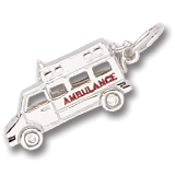 Sterling Silver Ambulance Charm by Rembrandt Charms