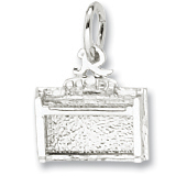 14K White Gold Piano Spinet Upright Charm by Rembrandt Charms