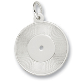 14K White Gold Record Charm by Rembrandt Charms