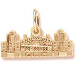 Gold Plate Navy Pier Charm by Rembrandt Charms