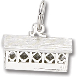 Sterling Silver Covered Bridge Charm by Rembrandt Charms