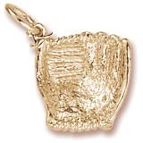 Gold Plate Baseball Glove Charm by Rembrandt Charms