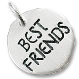 14K White Gold Best Friends Charm Tag by Rembrandt Charms