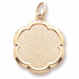 Gold Plate Blank Scalloped Disc Charm by Rembrandt Charms
