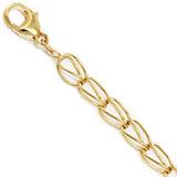Rembrandt Fancy Link Charm Bracelet 7 inch, 14k Gold