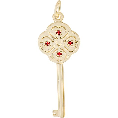 14K Gold Key to my Heart 07 July by Rembrandt Charms