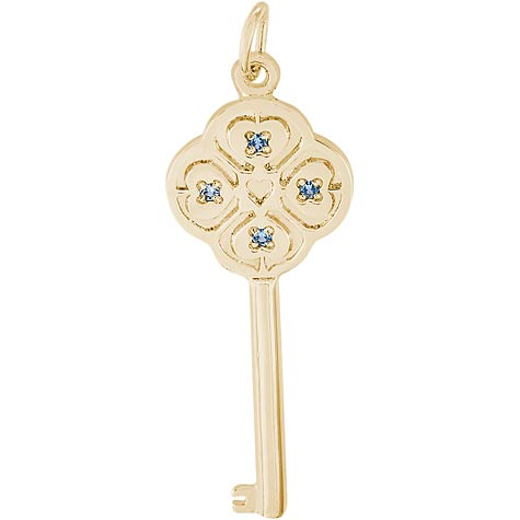 14K Gold Key to my Heart 12 December by Rembrandt Charms