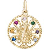 10k Gold Peacock Charm by Rembrandt Charms