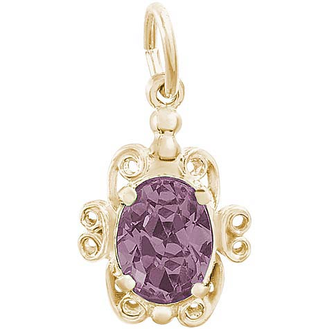 14k Gold 06 June Filigree Charm by Rembrandt Charms