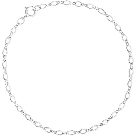 """Sterling Silver Figure 8 Charm Bracelet 7"""" by Rembrandt Charms"""