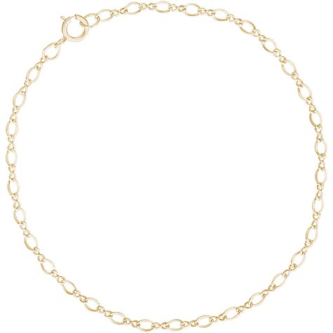"14K Gold Figure 8 Charm Bracelet 7"" by Rembrandt Charms"