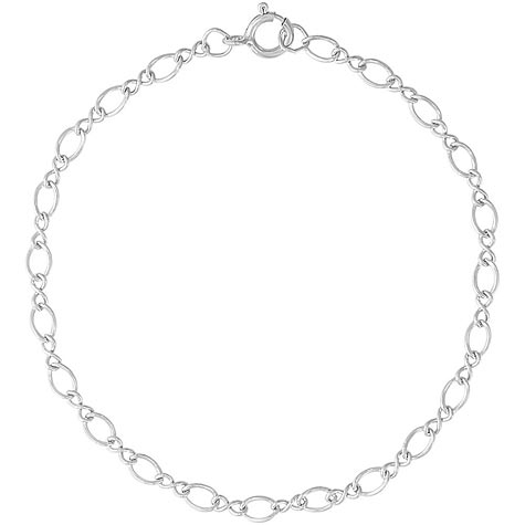"Sterling Silver Figure Eight 7"" Charm Bracelet by Rembrandt Charms"