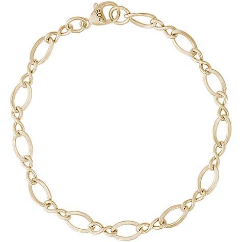 14K Gold Single Link Charm Bracelet by Rembrandt Charms