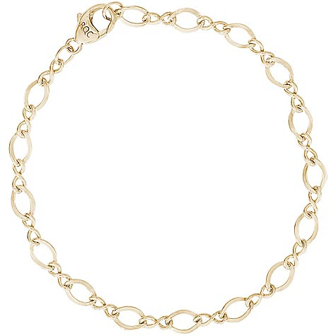 """14K Gold Grow with Me Charm Bracelet Up to 7"""""""