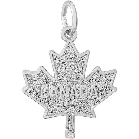 14k White Gold Canada Maple Leaf by Rembrandt Charms