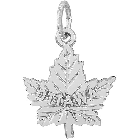 Sterling Silver Ottawa Maple Leaf Charm by Rembrandt Charms