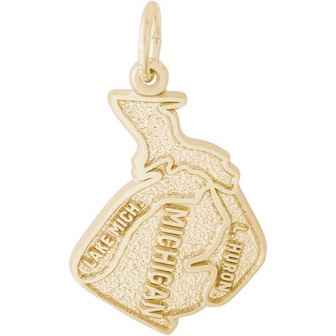 14K Gold Michigan Charm by Rembrandt Charms