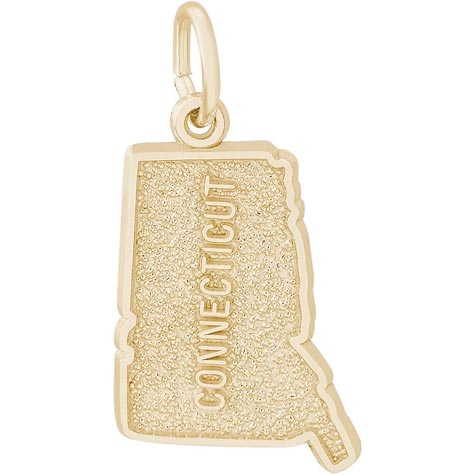 Gold Plated Connecticut Charm by Rembrandt Charms