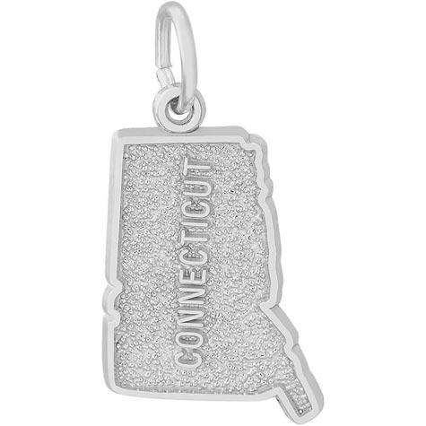 14K White Gold Connecticut Charm by Rembrandt Charms