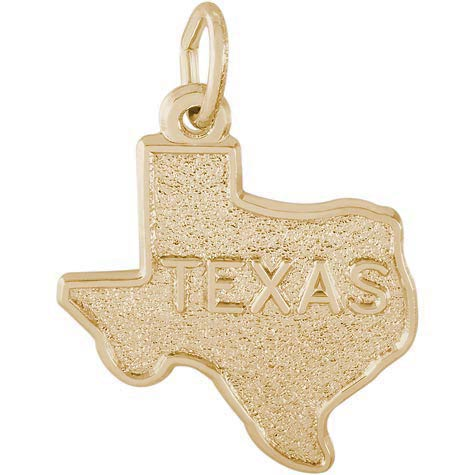 14k Gold Texas State Map Charm by Rembrandt Charms
