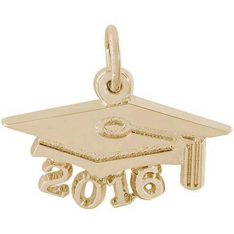 14k Gold Graduation Cap 2016 Charm by Rembrandt Charms