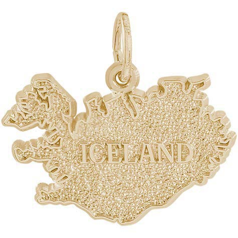 Gold Plated Iceland Charm by Rembrandt Charms