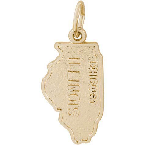 Gold Plated Illinois Charm by Rembrandt Charms