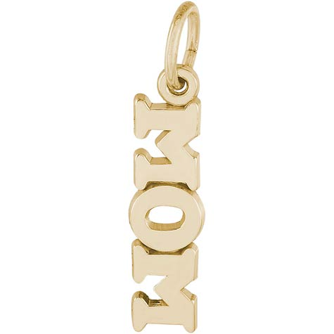 14K Gold Mom Accent Charm by Rembrandt Charms