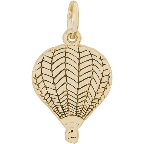 Gold Plate Flat Hot Air Balloon Charm by Rembrandt Charms