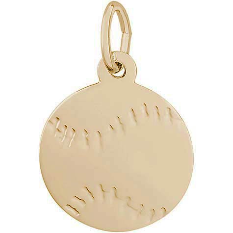 10K Gold Baseball Charm by Rembrandt Charms