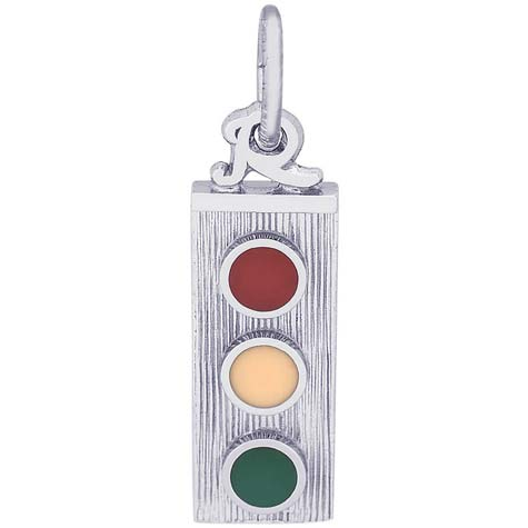 14K White Gold Traffic Light Charm by Rembrandt Charms