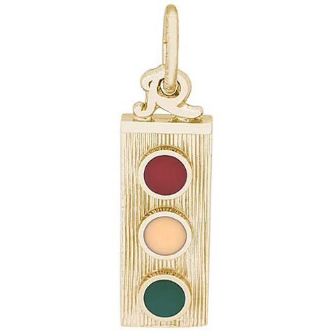 10K Gold Traffic Light Charm by Rembrandt Charms
