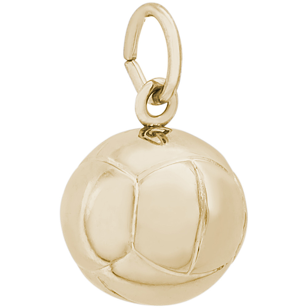 14K Gold Volleyball Charm by Rembrandt Charms