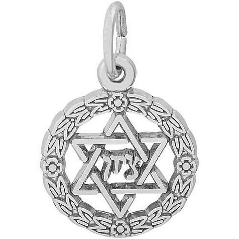 Sterling Silver Star of David Wreath Charm by Rembrandt Charms