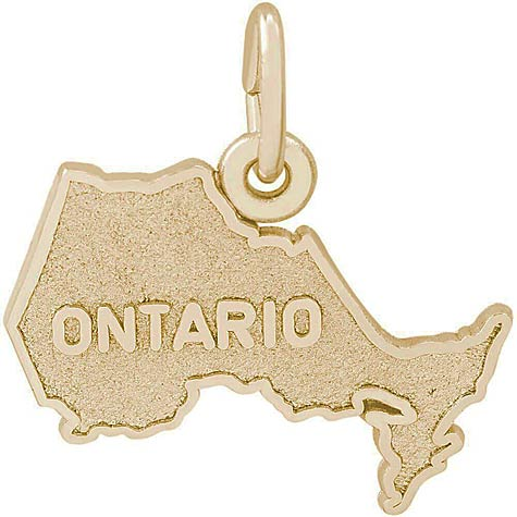 Gold Plate Ontario Map Charm by Rembrandt Charms