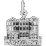 14K White Gold Rainbow Row Charm by Rembrandt Charms