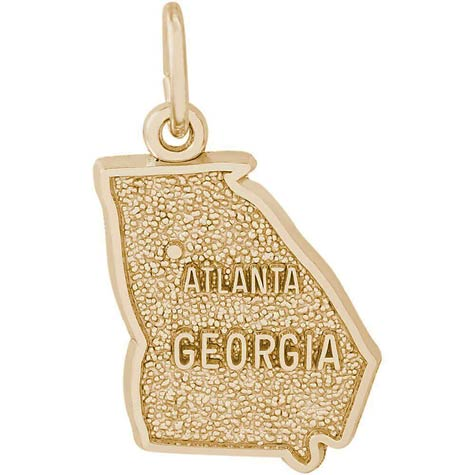 Gold Plated Atlanta, Georgia Charm by Rembrandt Charms