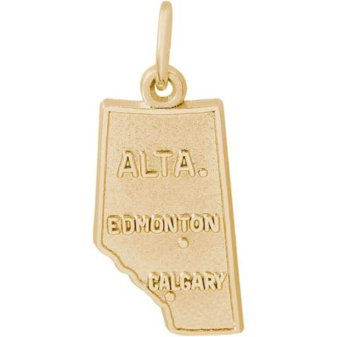 Gold Plate Alberta, Canada Charm by Rembrandt Charms
