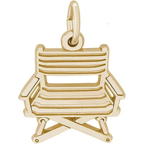 14K Gold Director's Chair Charm by Rembrandt Charms