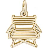 Gold Plated Director's Chair Charm by Rembrandt Charms