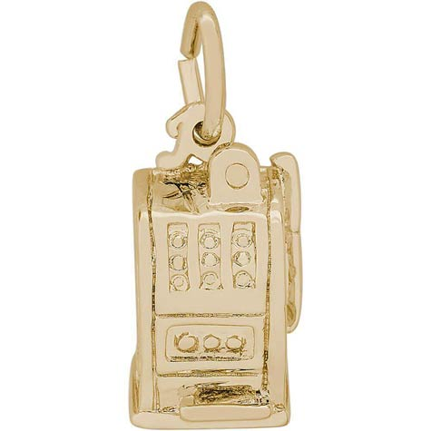 14K Gold Las Vegas Slot Machine Charm by Rembrandt Charms