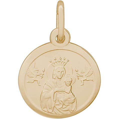 14K Gold Madonna and Child Accent Charm by Rembrandt Charms